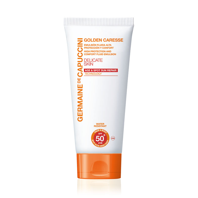 Golden Caresse High Protection Emulsion Delicate Skin SPF50+